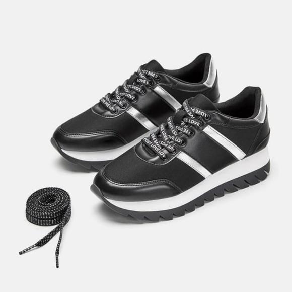 Zara Shoes   Zara Contrast Sports Shoes